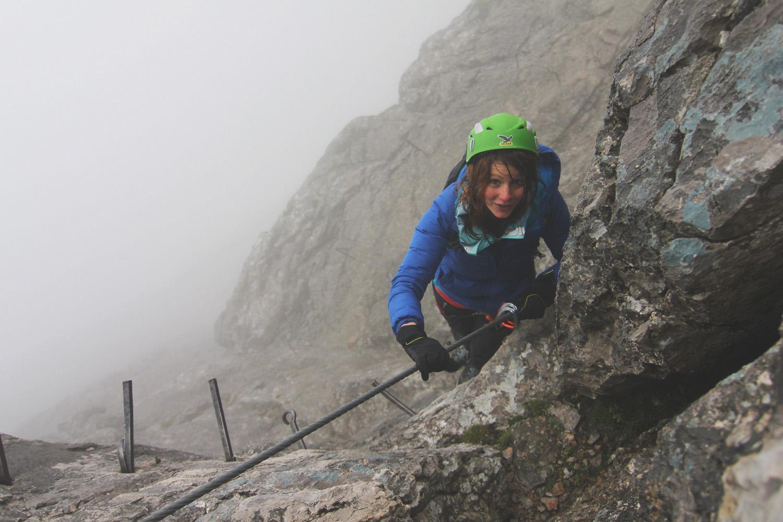 Klettersteig Höllental : Höllental klettersteig bei regen
